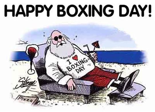 happy boxing day cartoon